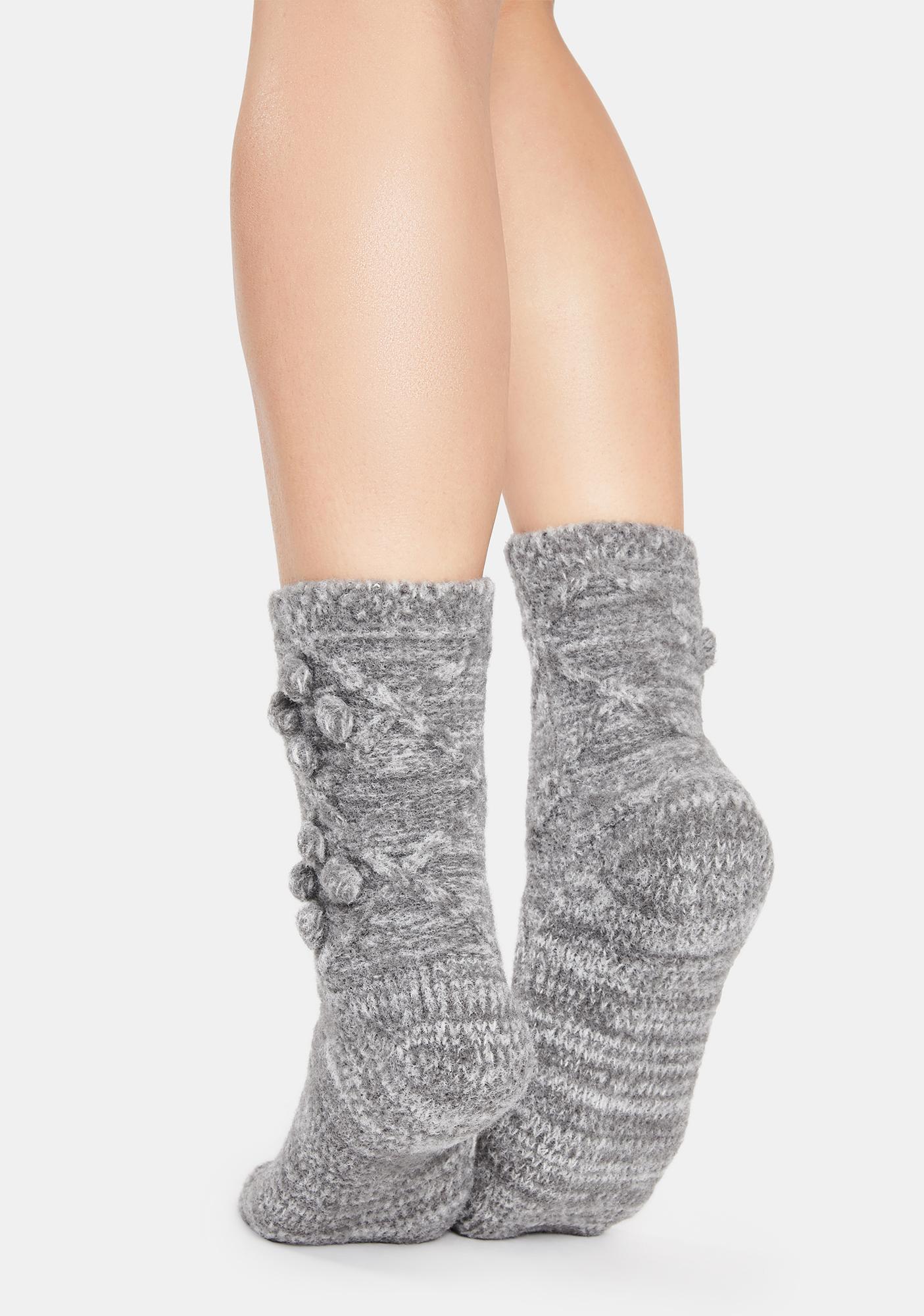 MeMoi Blissful Bubble Warm Crew Socks