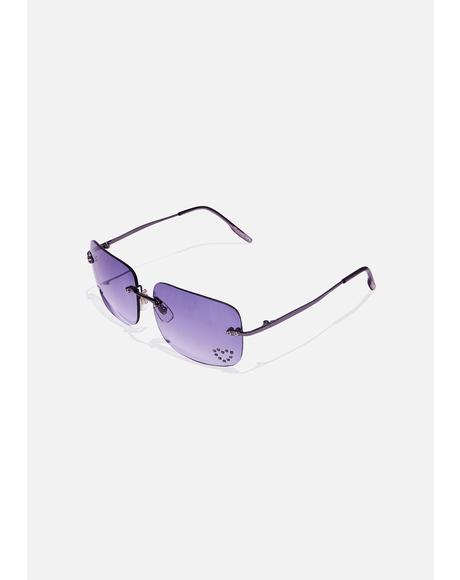 Smoke Sweetheart Clear Sunglasses