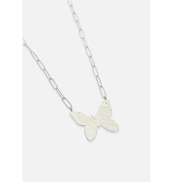 So Above It Butterfly Necklace