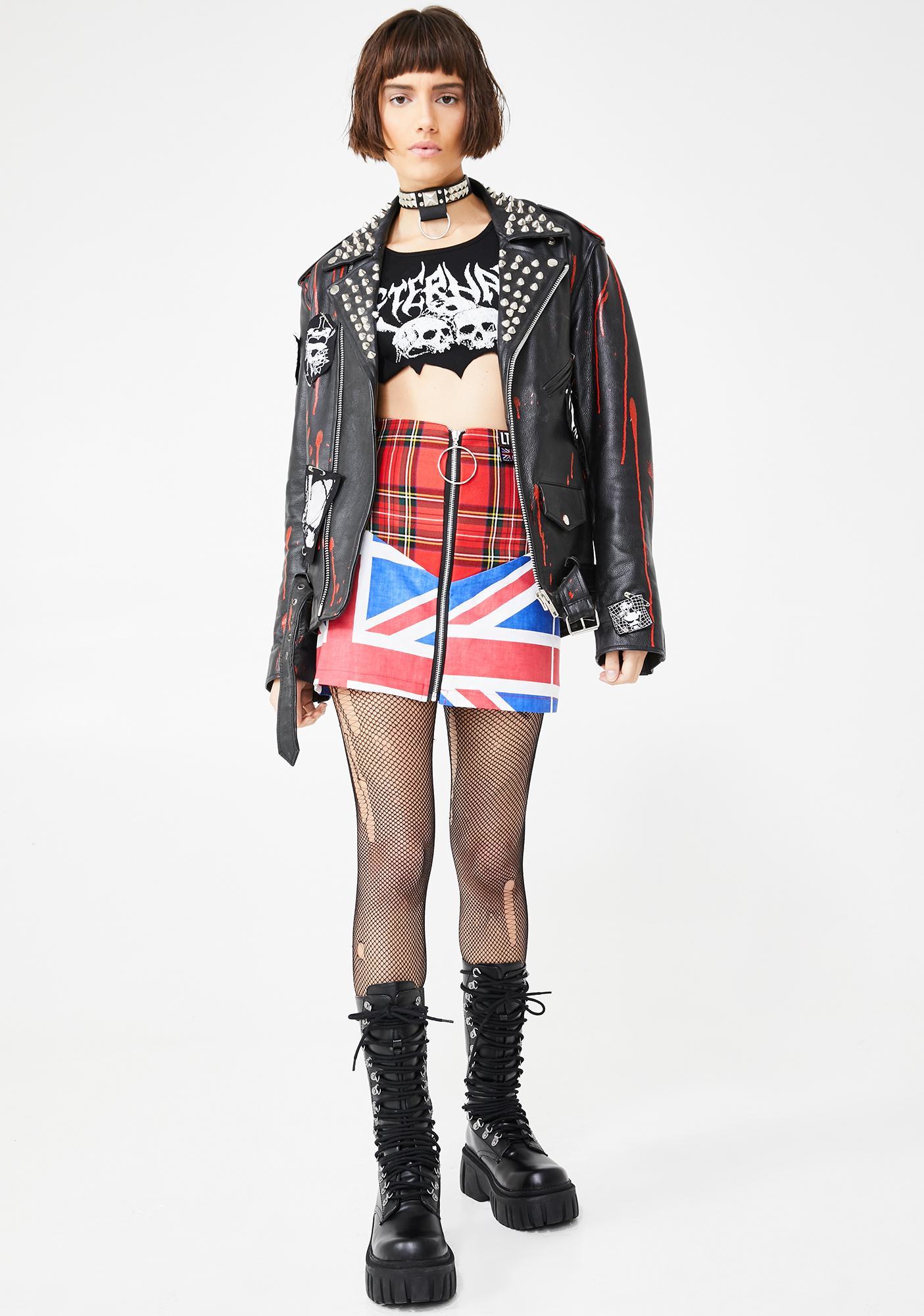 LOVE TOO TRUE The Anarchy Mini Skirt