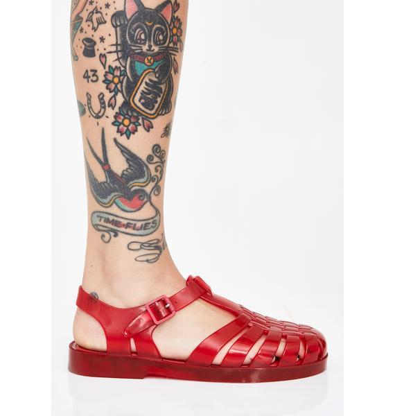 Melissa Scarlet Possession Jelly Sandals