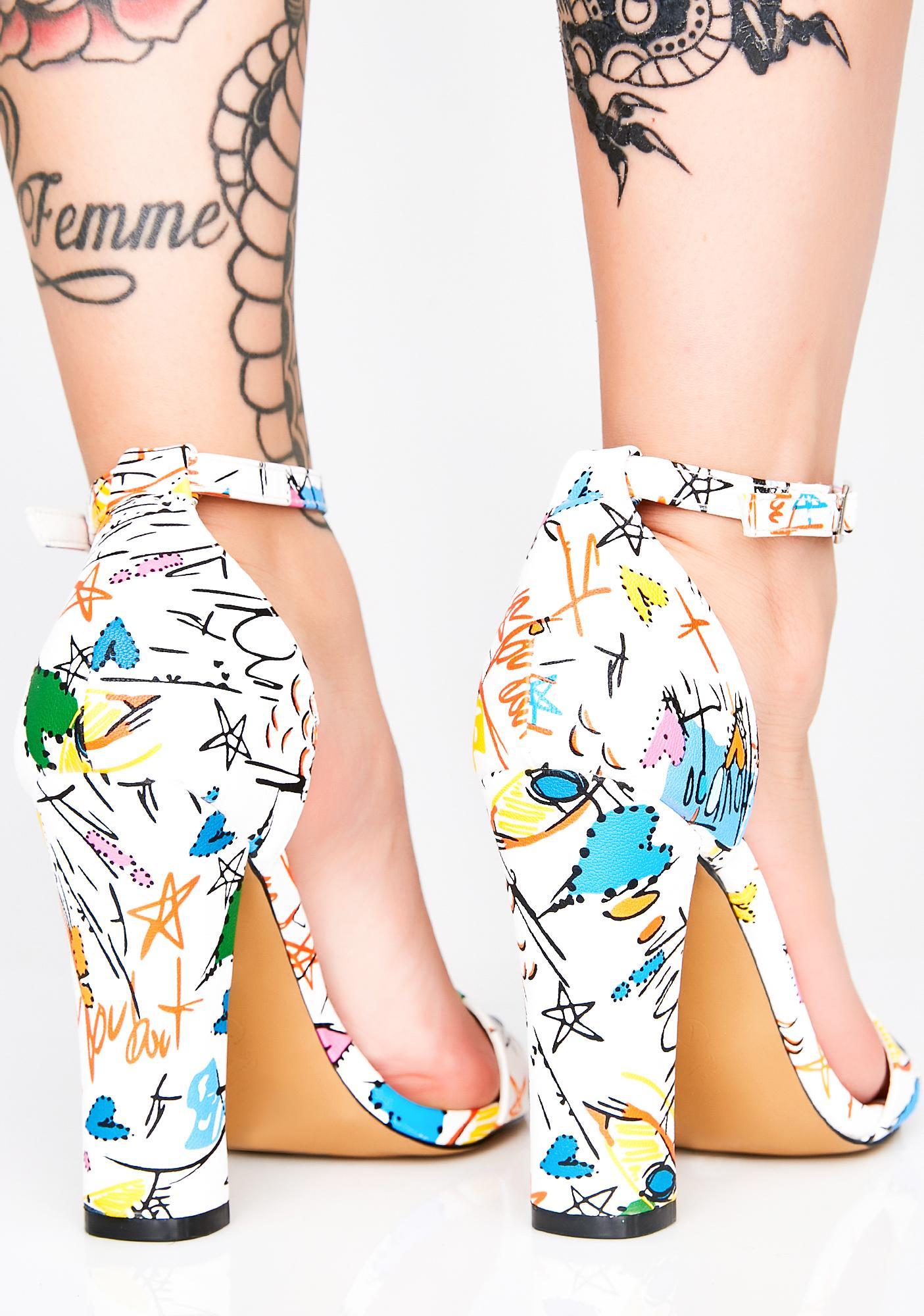 Scribble Me Happy Heels