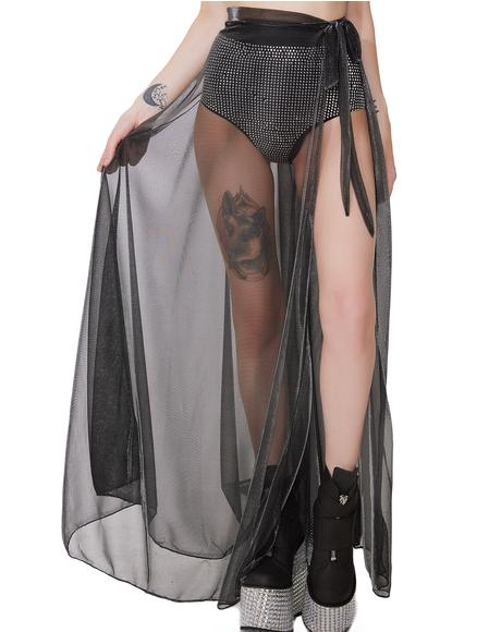 Gossamer Cocoon Sheer Skirt