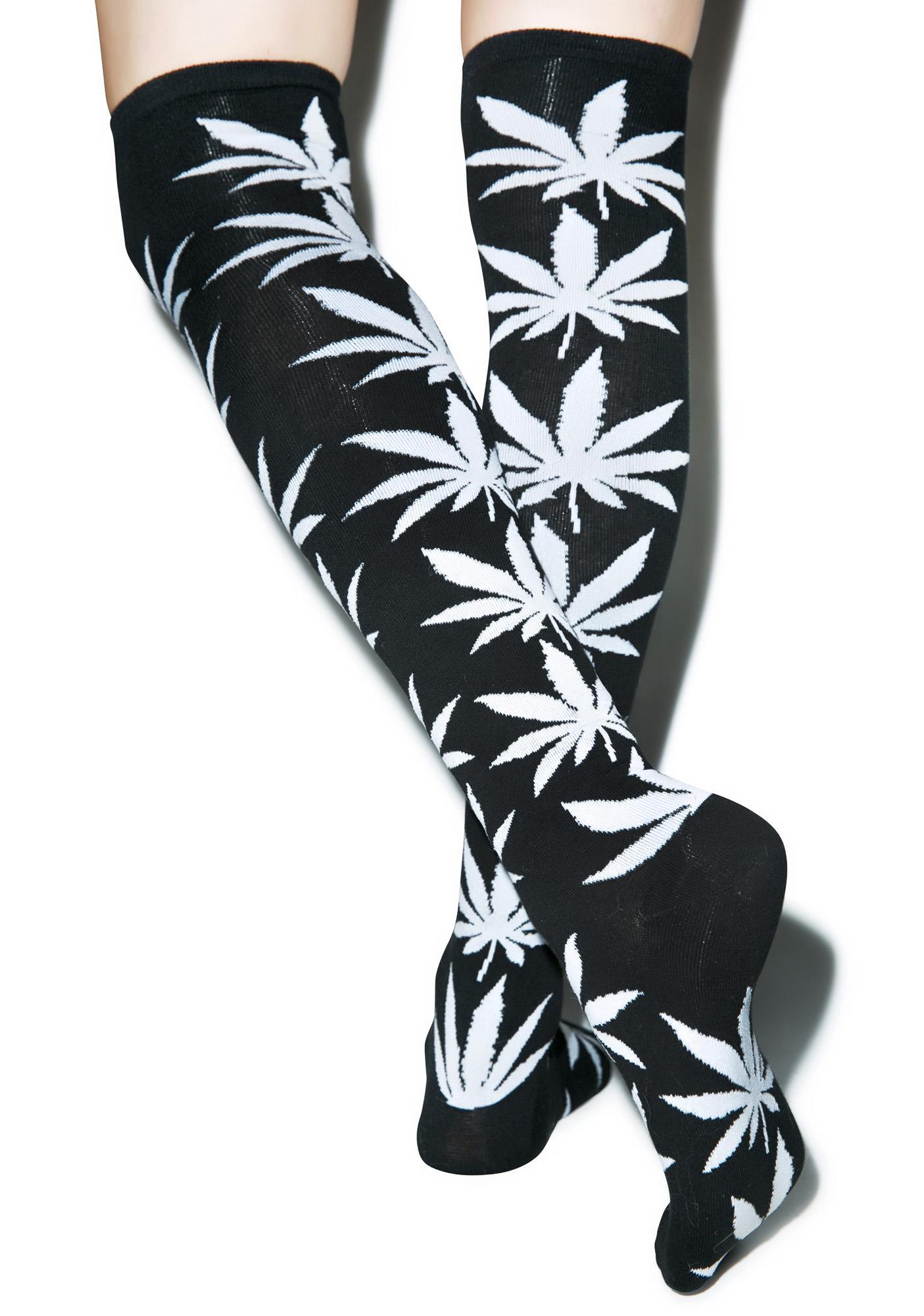 1fb5ebdd388 ... HUF Plantlife Thigh High Socks