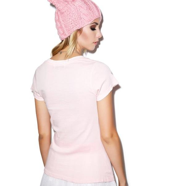 Wildfox Couture Live In A Castle Classic V-Neck Tee