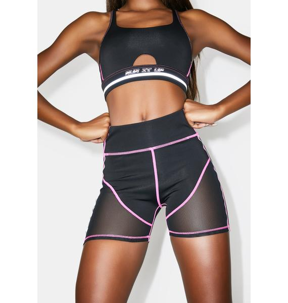 Poster Grl Run It Up Biker Shorts Set