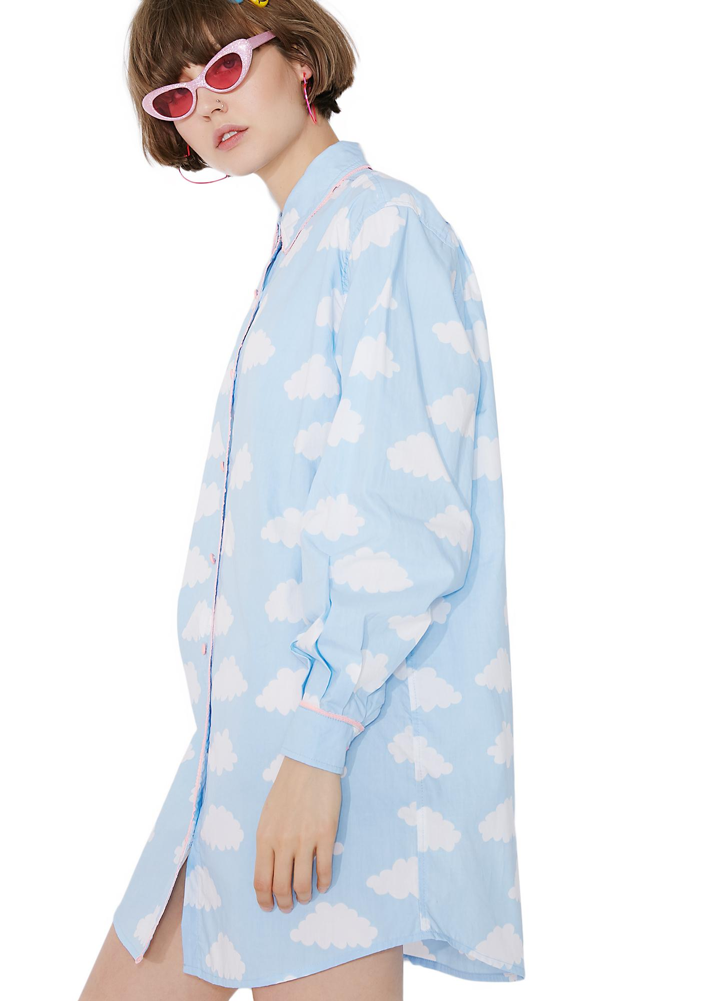 Lazy Oaf Sometimes Cloudy Shirt
