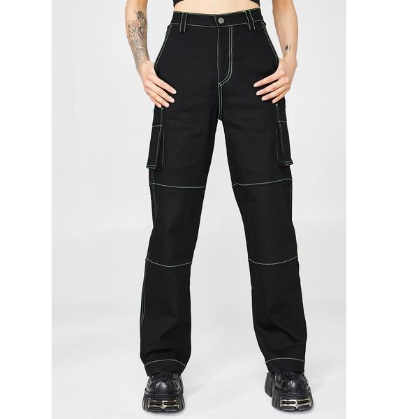 Minga Neon Stitch Utility Jeans