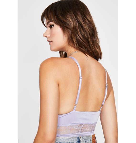 Grape Parental Guidance Lace Bodysuit