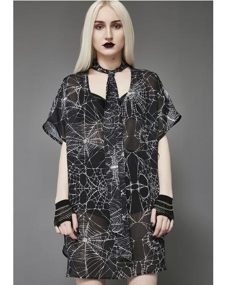 Widow's Web Chiffon Tunic
