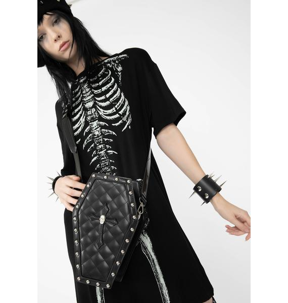 Dolls Kill Deadly Secrets Coffin Bag