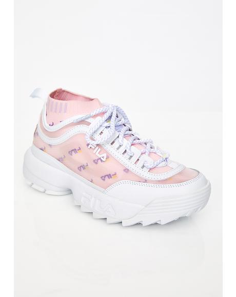 Lilac Disruptor II Sock Mesh Sneakers