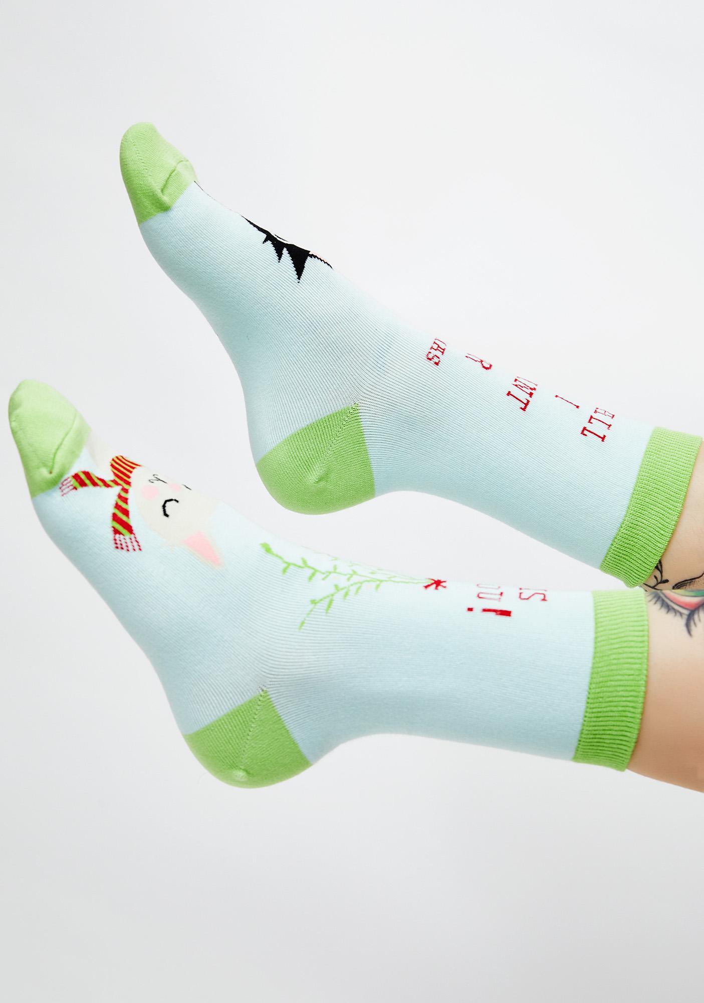 Under The Mistletoe Socks