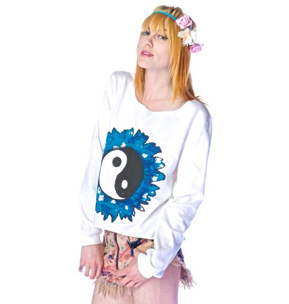 Mad Love Yin Yang Sweater Top