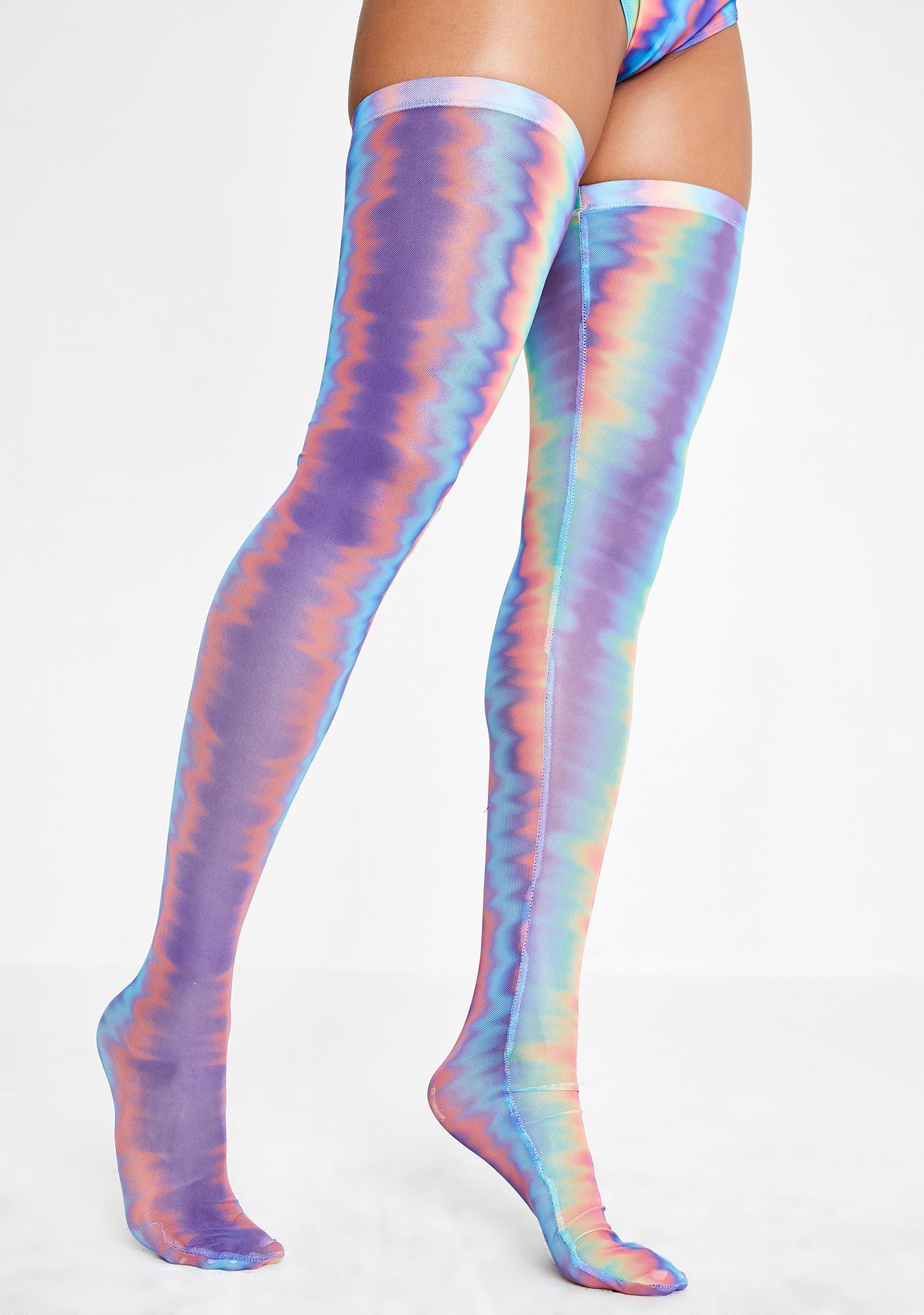 Club Exx Hypnotic Mist Mesh Stockings