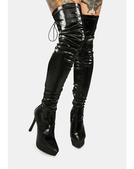Cupid's Secret Stretch Thigh High Platform Boots