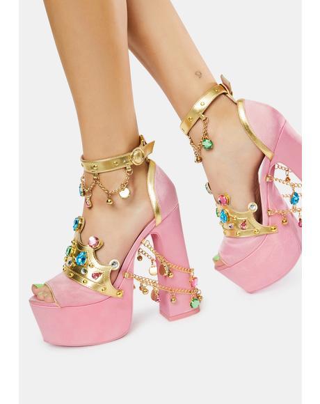 Crowned Charmer Platform Heels