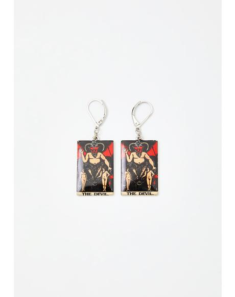 Sly N' Sinister Tarot Card Earrings
