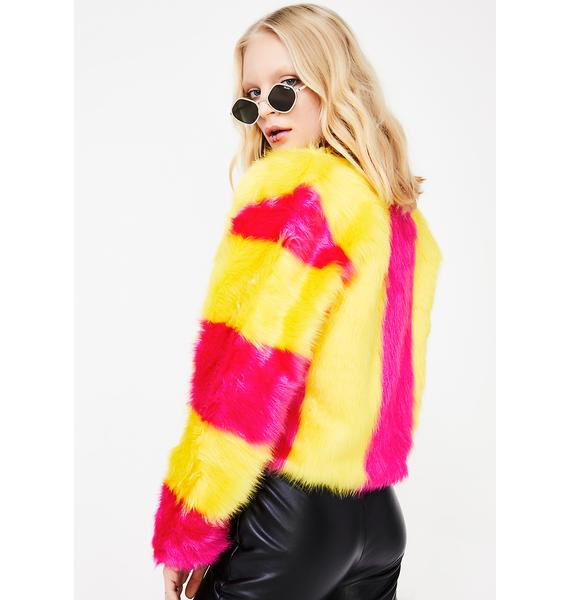 I Want Candy Fuzzy Jacket