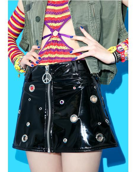 Slick Chick Eyelet Skirt