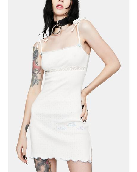 White Cloud Mini Dress