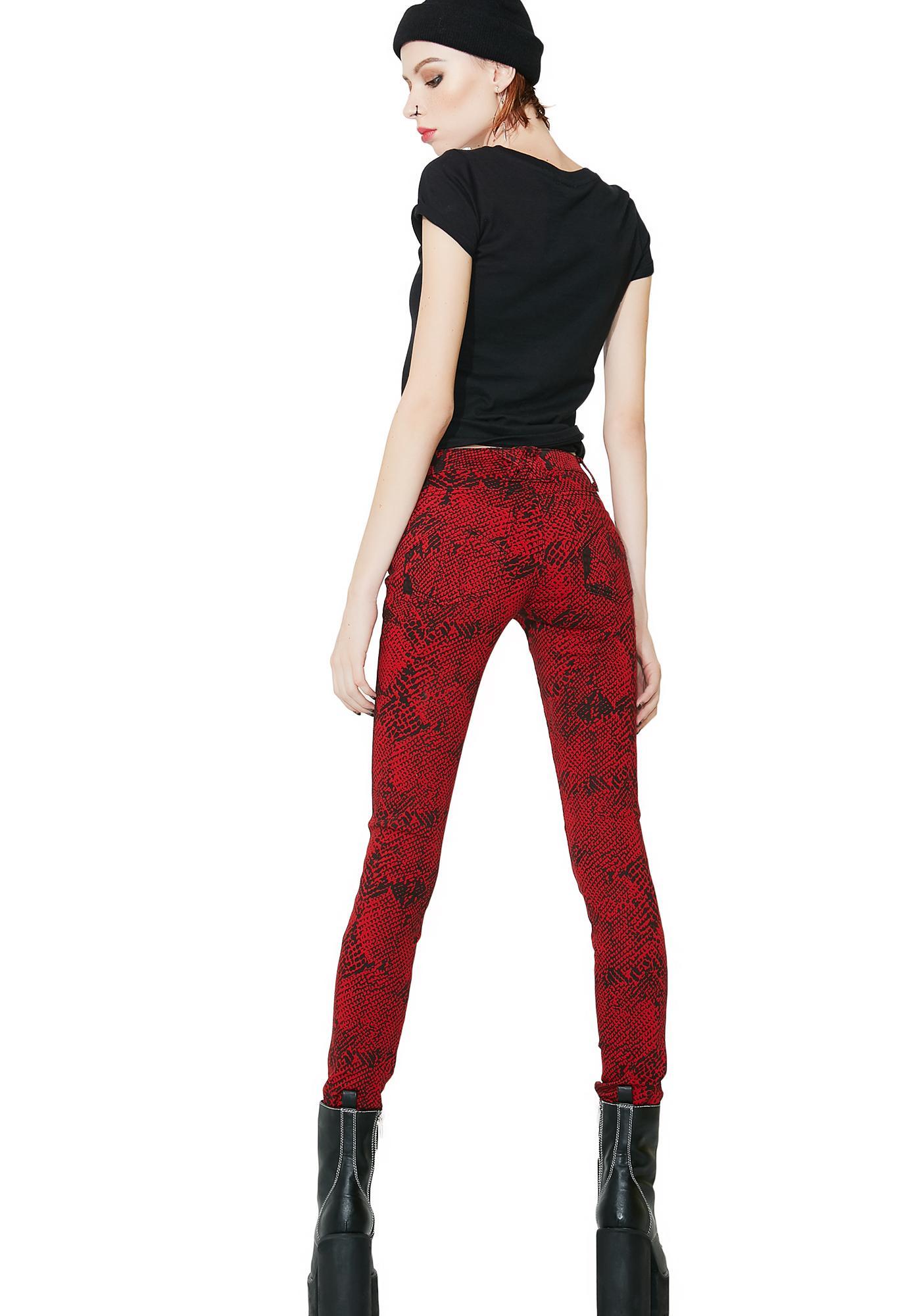 Tripp NYC Snake Skinny Jeans