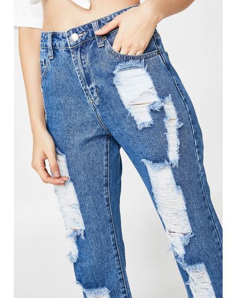 Indigo Yung N' Wild Cropped Jeans