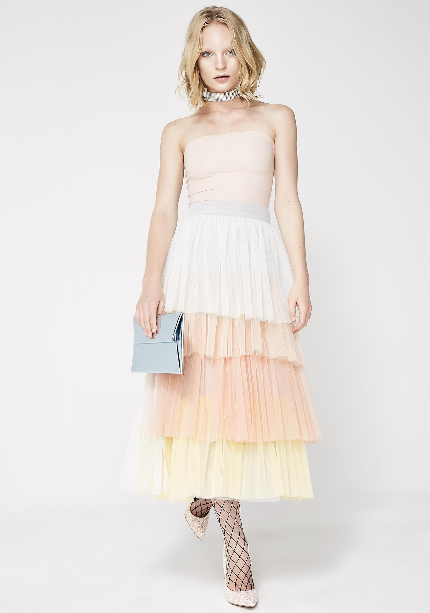 Glamorous New Princess Layered Skirt