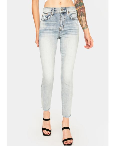 Whirlwind Blue Money Maker Skinny Jeans