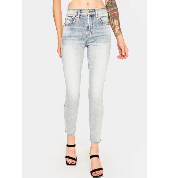 Daze Whirlwind Blue Money Maker Skinny Jeans