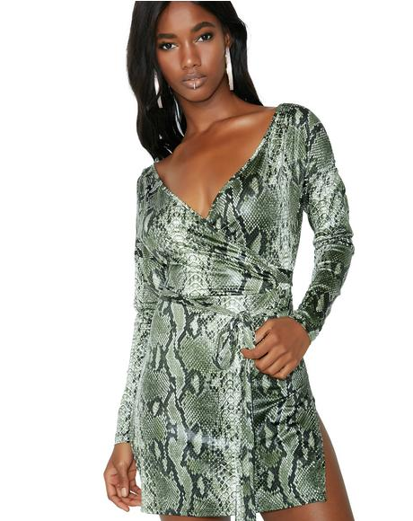 Pretty Poison Wrap Dress