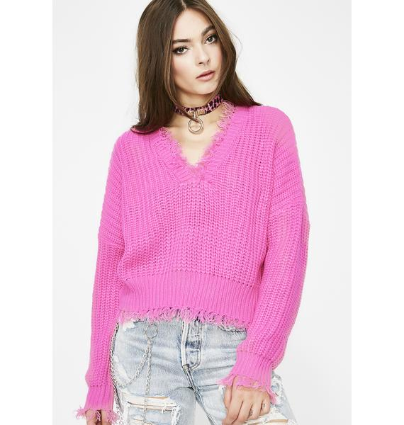 Brighter Days Distressed Sweater