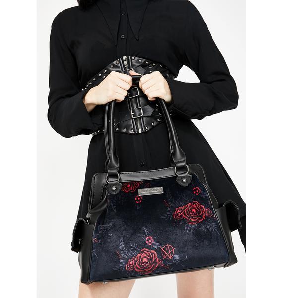 Killstar Rosalia Velvet Handbag