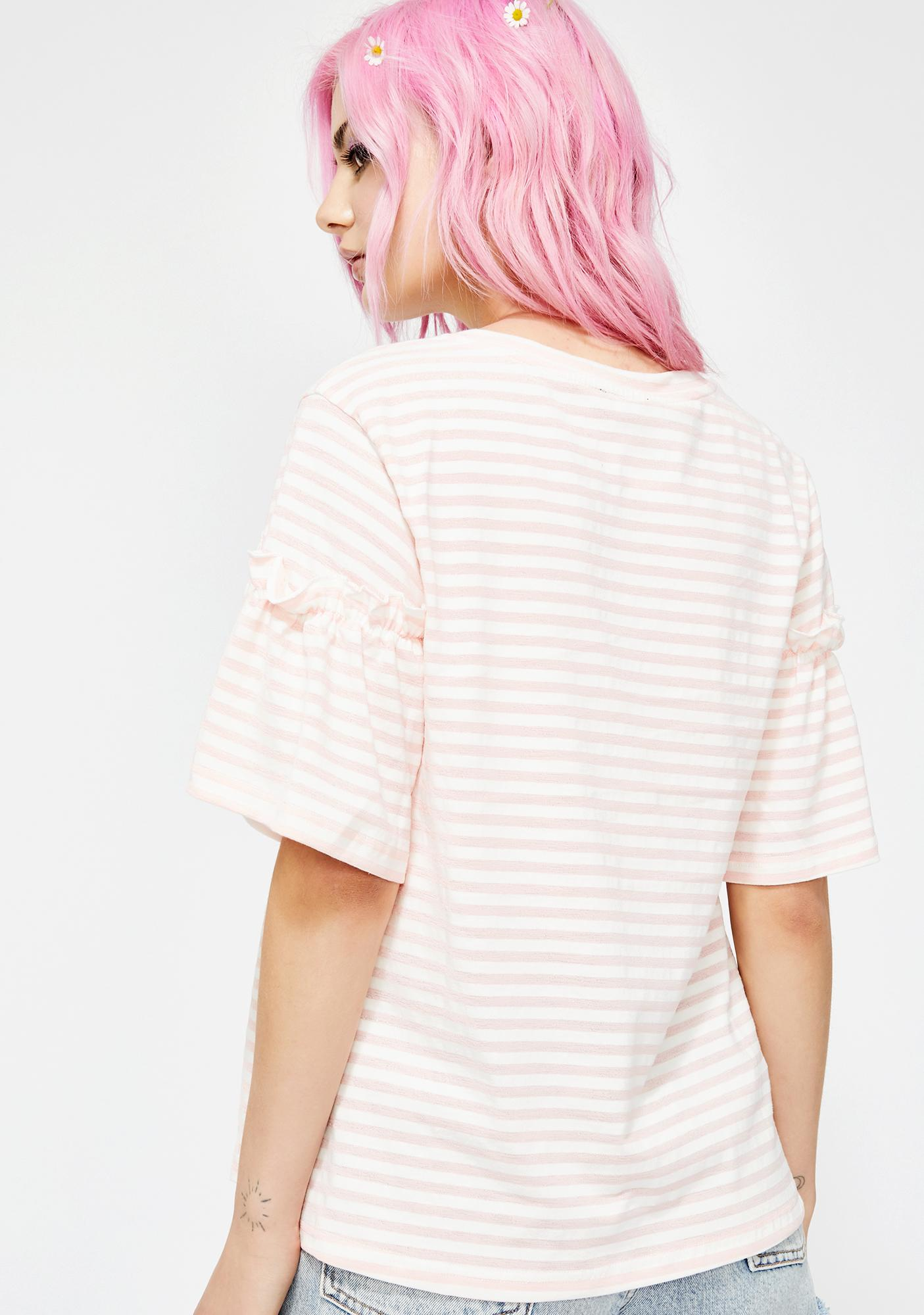 Blush Soft Spot Striped Tee