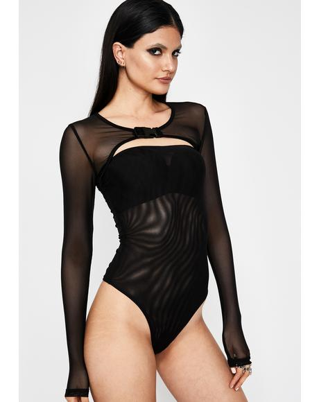 Straight Savage Sheer Bodysuit