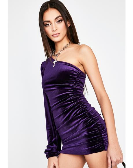 Obscene Fiend Ruched Dress