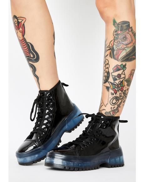 Transparent Soul Patent Sneakers