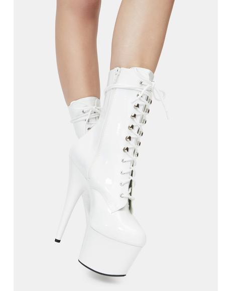 Icy Player's Club Adore Platform Heels
