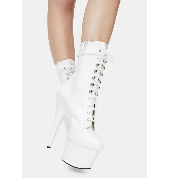 Pleaser Icy Player's Club Adore Platform Heels