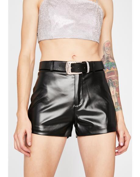 Onyx Stellar Sass Belted Shorts