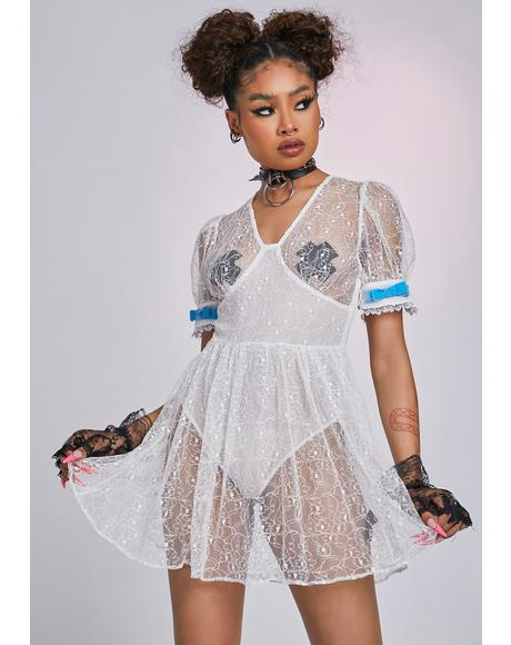 The Poissy Sheer Mini Dress
