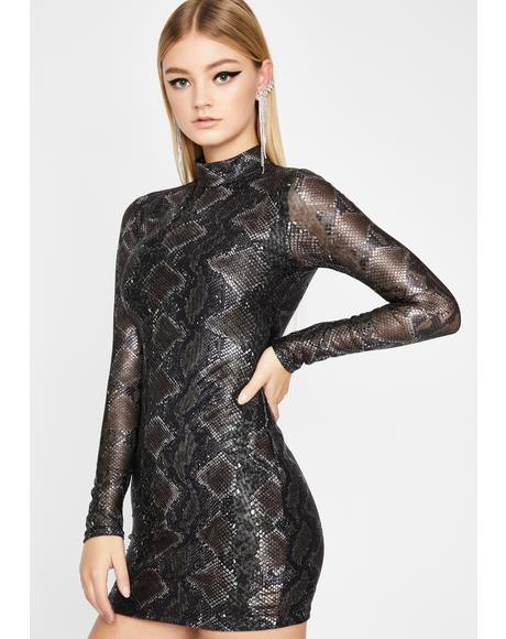 Toxic Tricks Snakeskin Dress