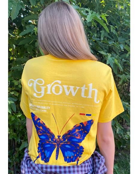 Yellow Personal Growth Graphic Tee