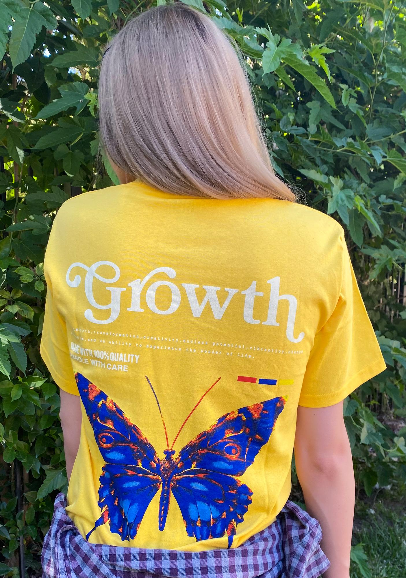 ILL INTENT Yellow Personal Growth Graphic Tee