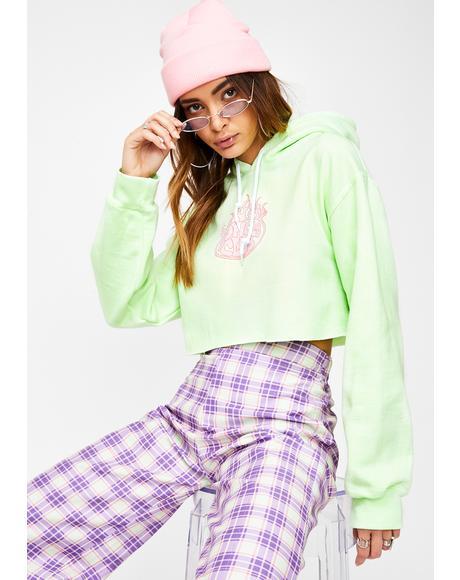 Lime Crop Hoodie