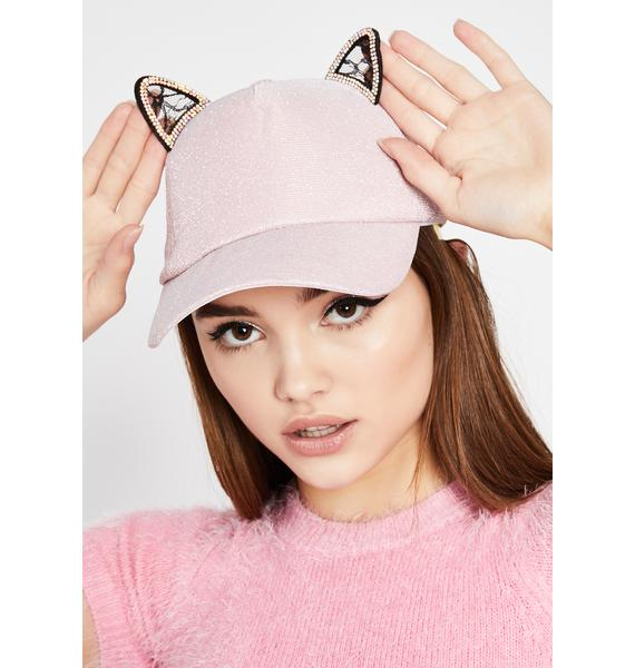 Sweet Kitty Player Baseball Cap
