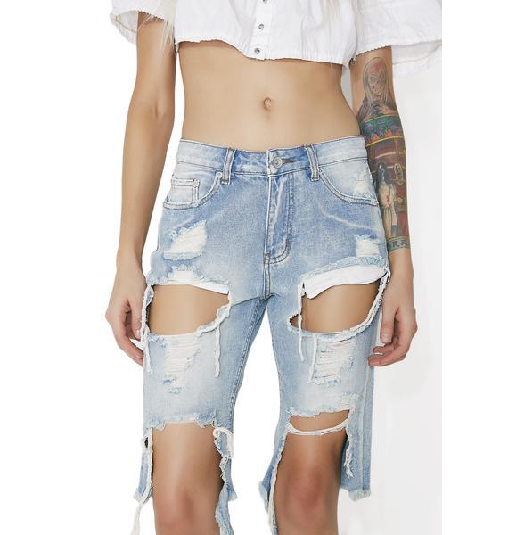 Ironwood Distressed Denim Shorts