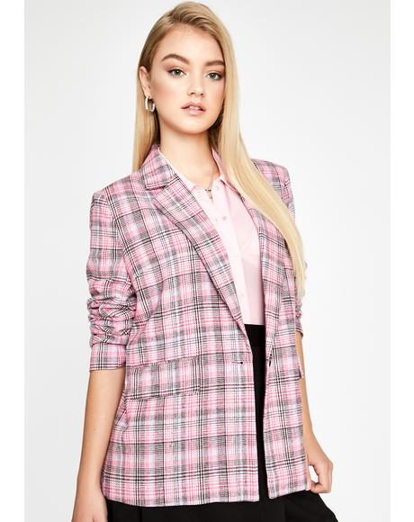 I Can Handle Anything Plaid Blazer