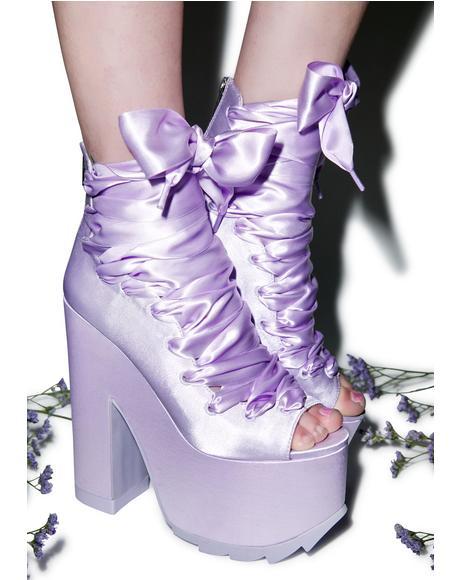 Ballet Bae Satin Platforms