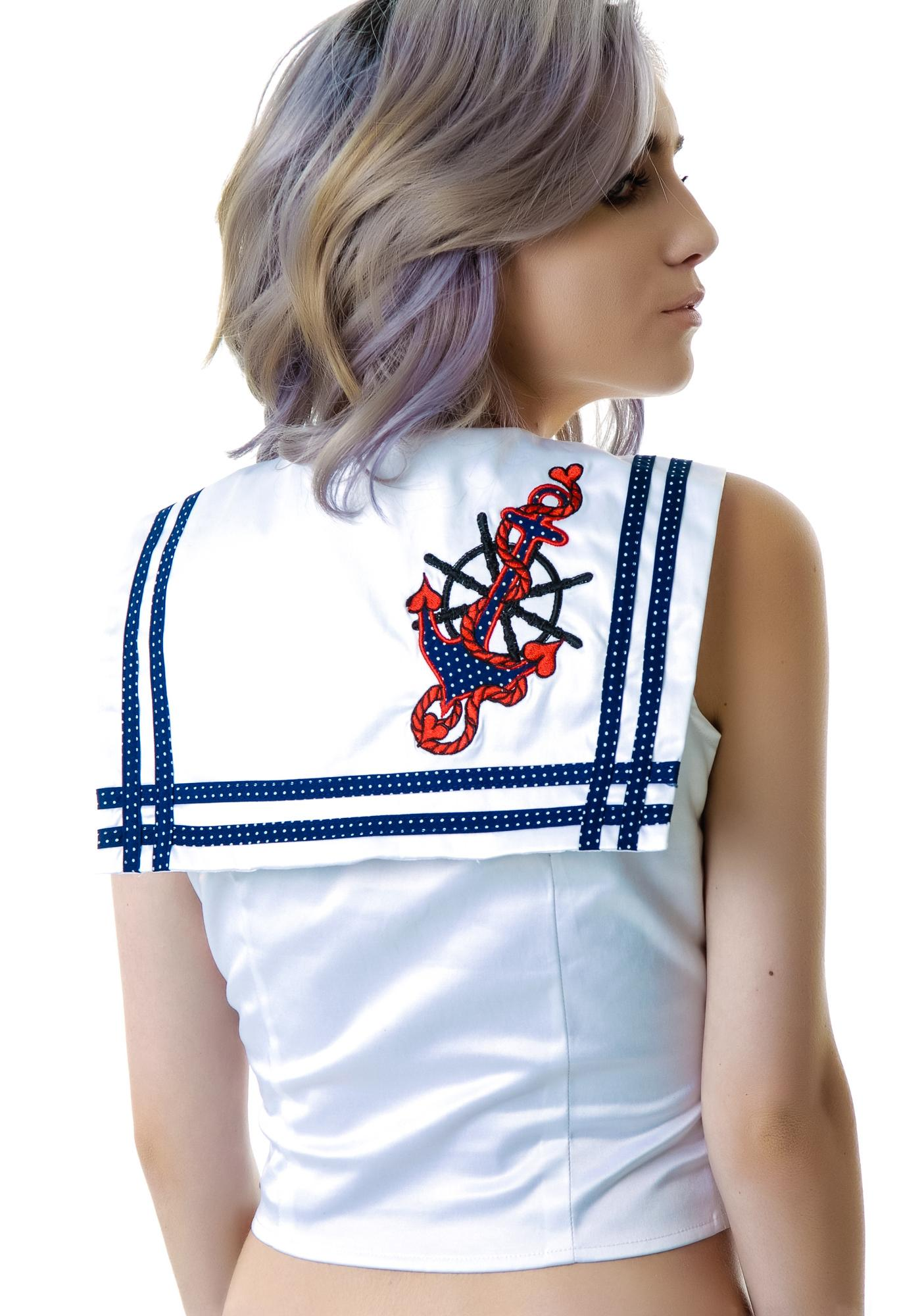 Anchors Away Baby Sleeveless Top